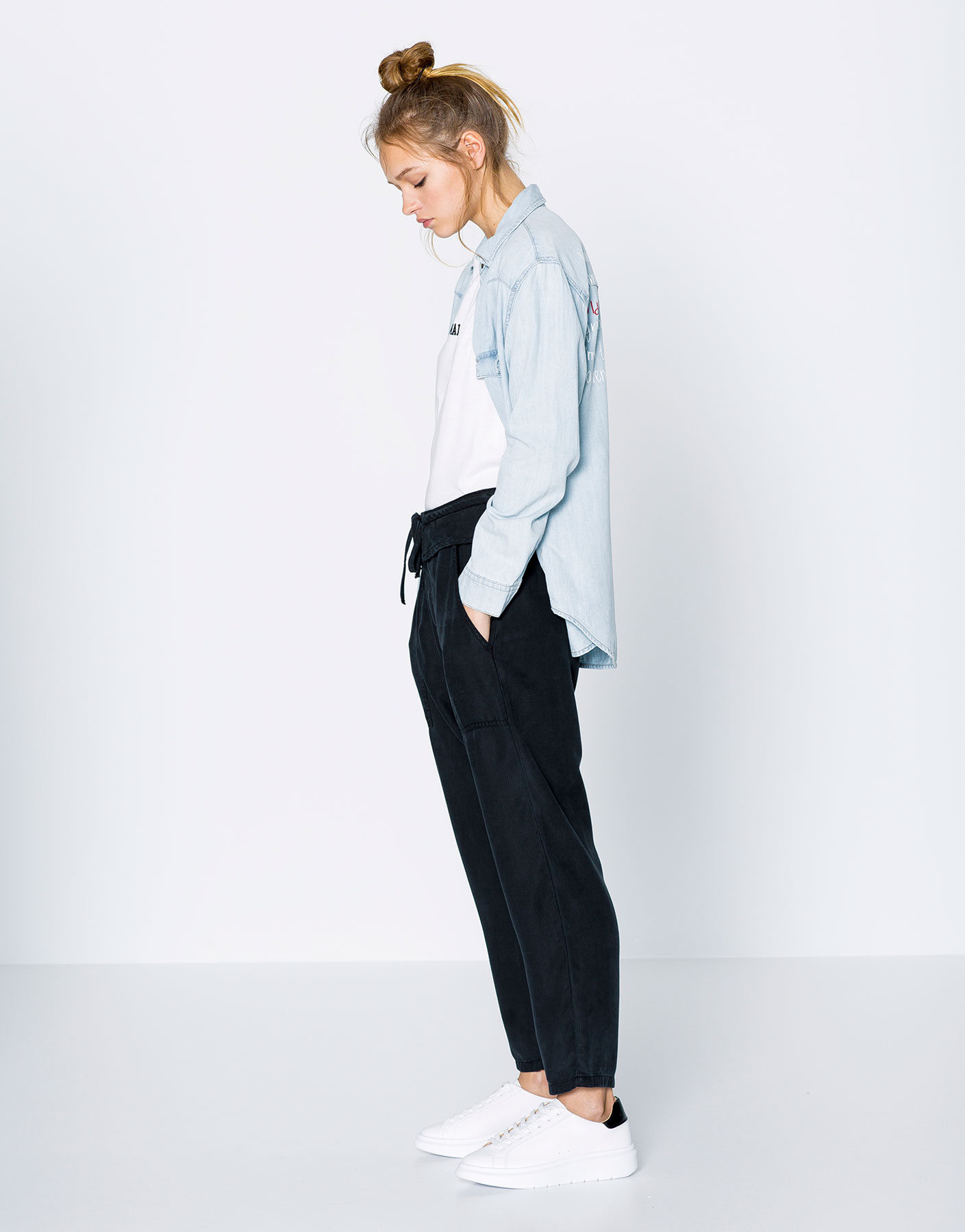 humanlike.co HAREM TROUSERS by Pull&Bear