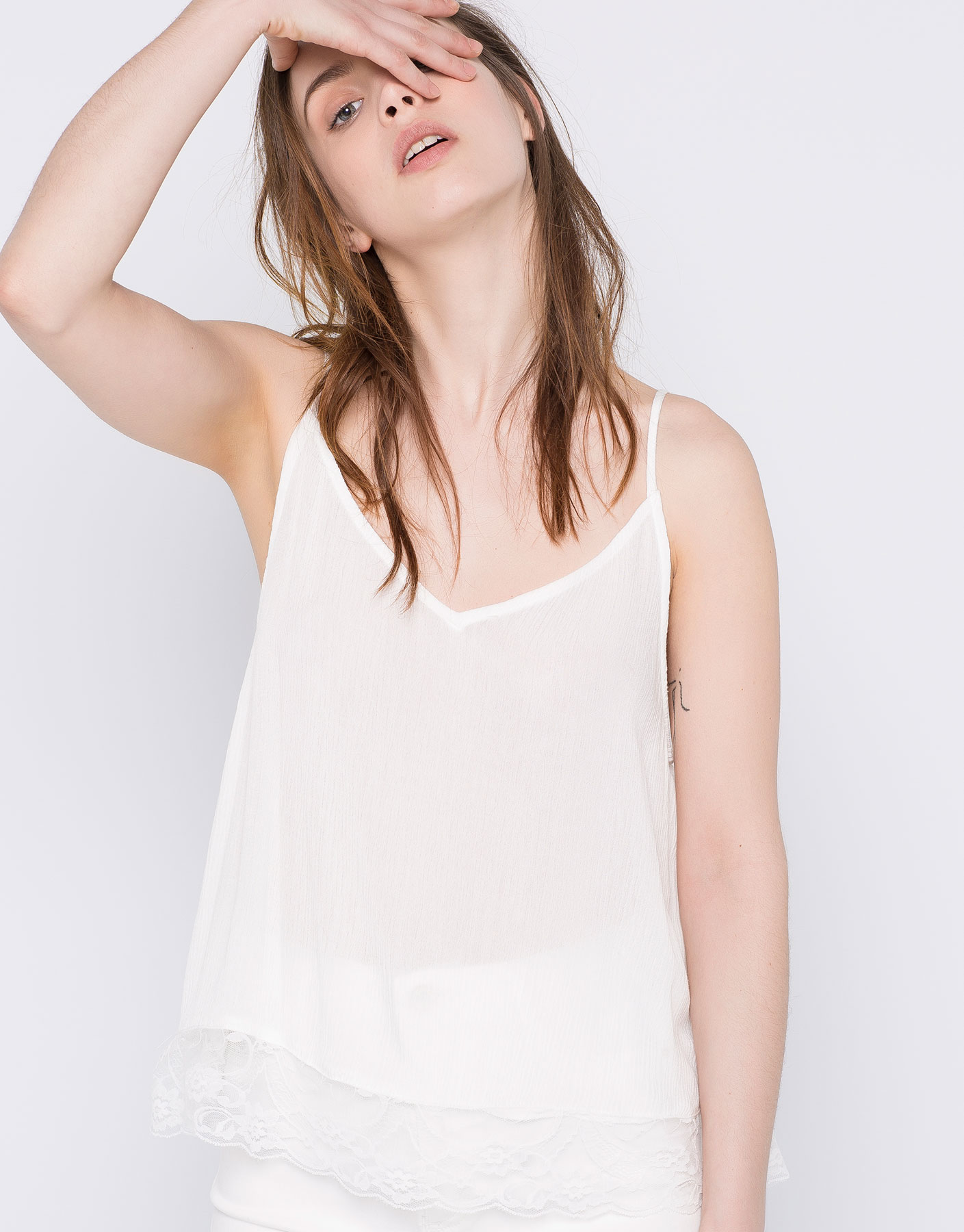 humanlike.co LINGERIE TOP by Pull&Bear