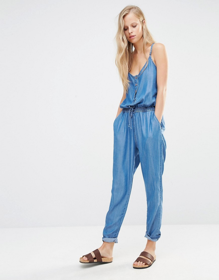 humanlike.co Pimkie Chambray Jumpsuit by ASOS