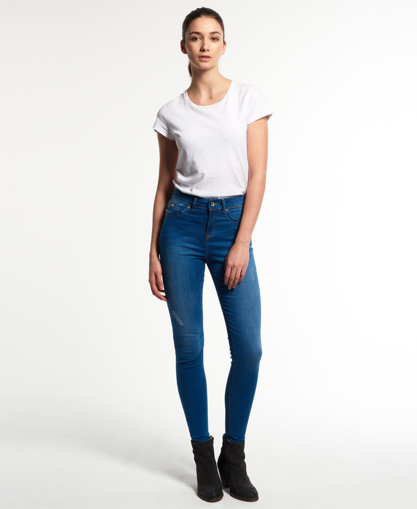 humanlike.co Sophia High Waist Super Skinny Jeans by Superdry
