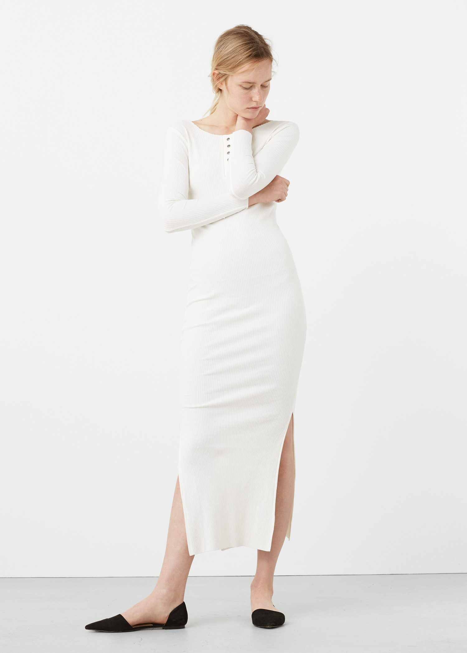 humanlike.co Tailored ribbed dress by Mango