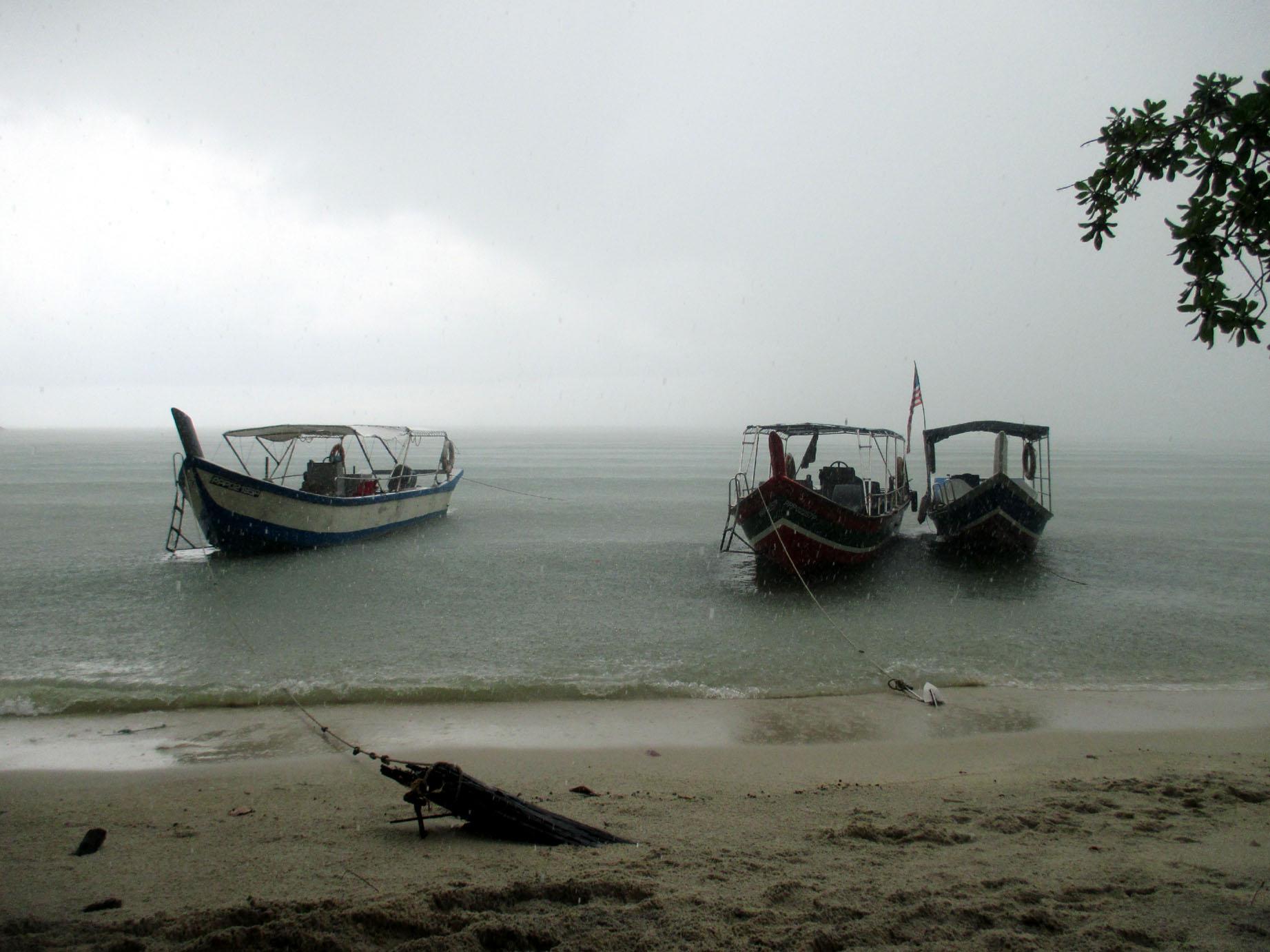 humanlike.co places malaysia Taman Negara Pulau Pinang beach rain