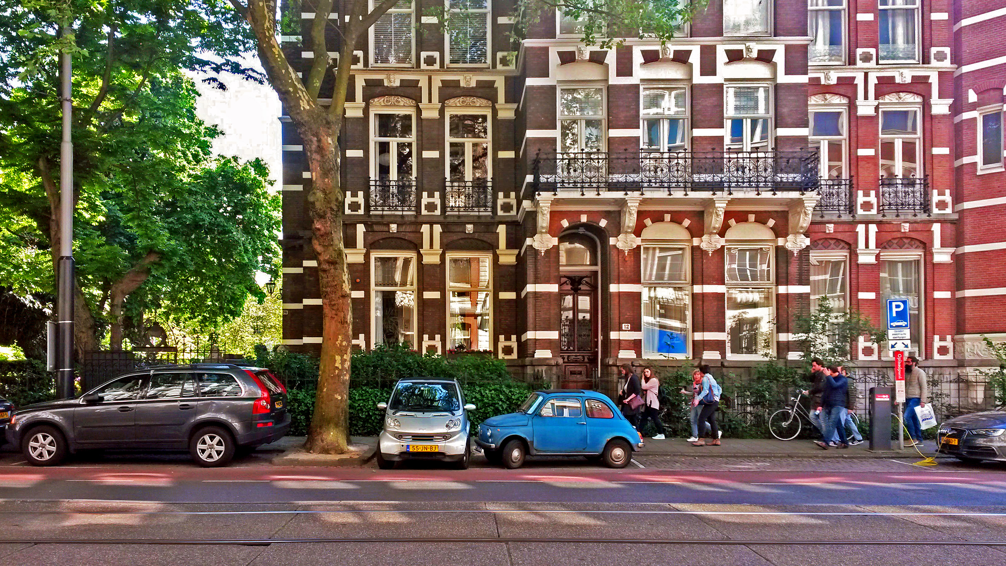 humanlike.co place double parked cars amsterdam